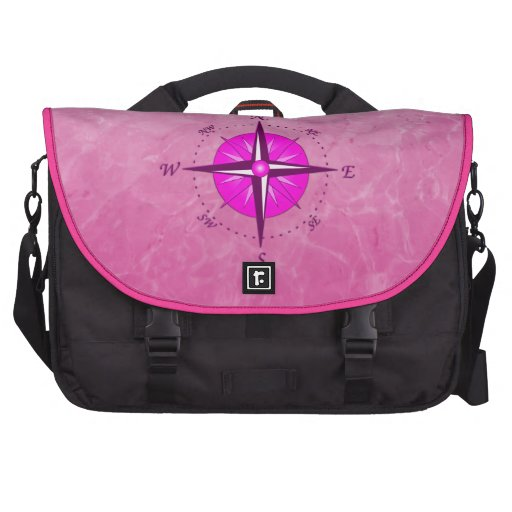 Pink Captain with Compass Rose Commuter Bag