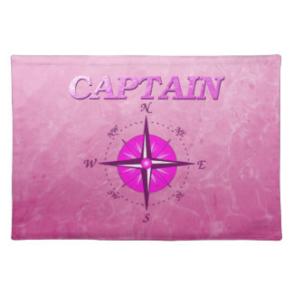 Pink Captain with Compass Rose Place Mats