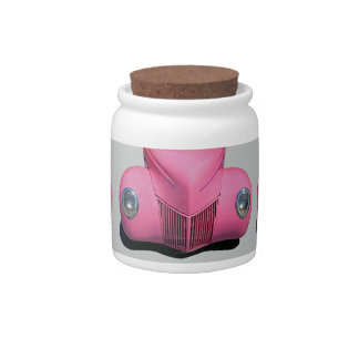Pink Car Candy Jar