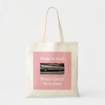 Pink Car Pretty In Pink Breast Cancer Awareness Tote Bag