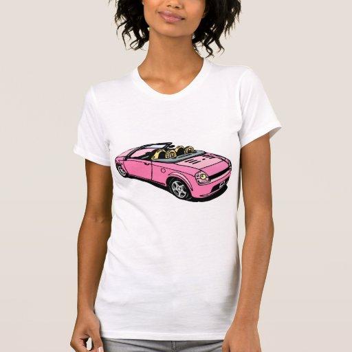 Pink Car Tee Shirts