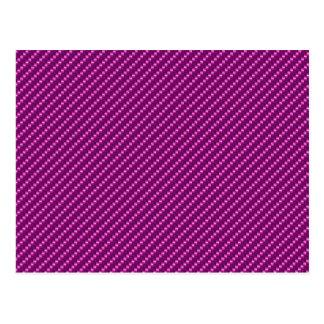 Pink Carbon Fiber Postcard