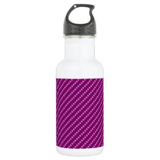 Pink Carbon Fiber Water Bottle