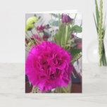 Pink Carnation Flower Blank Greeting Card