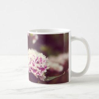 Pink Carnation flowers vintage lomo Mugs