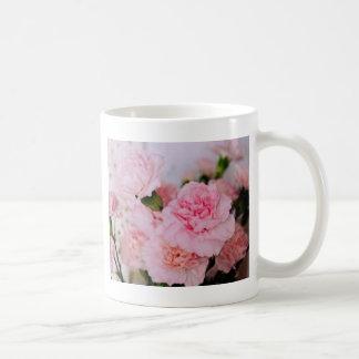 pink carnation flowers vintage style photography coffee mug