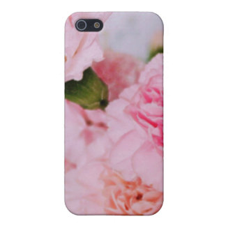 pink carnation flowers vintage style photography iPhone SE/5/5s case