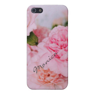 pink carnation flowers vintage style photography iPhone SE/5/5s cover