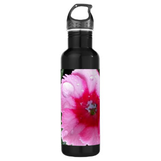 Pink Carnation in the Spring Rain Magenta Bloom Water Bottle