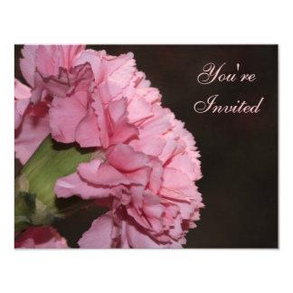 Pink Carnation Custom Invitations