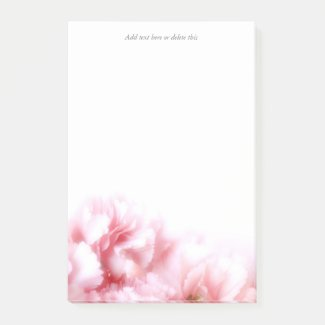 Pink Carnation Post-it Notes
