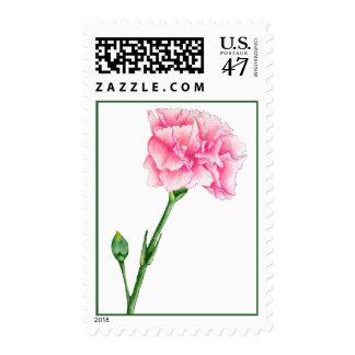 Pink Carnation Stamp