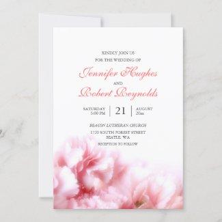 Pink Carnation Wedding Invitation