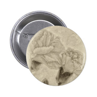 Pink Carnations 3 Antiqued Pinback Button