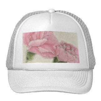 Pink Carnations 3 Color with Sepia Trucker Hat