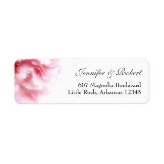 Pink Carnations Address Return Label