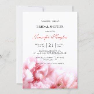 Pink Carnations Bridal Shower Invitation