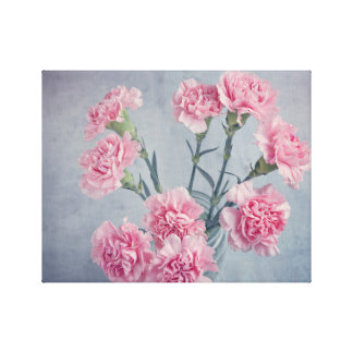 Pink Carnations Canvas Print