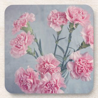 Pink Carnations Drink Coaster