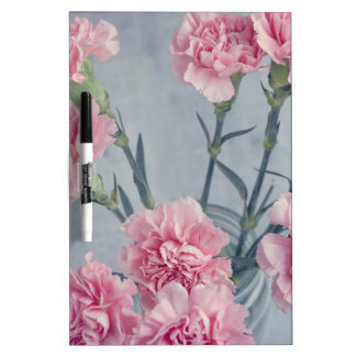 Pink Carnations Dry Erase Board
