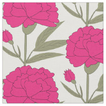 Pink Carnations Fabric