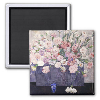 Pink Carnations Fine Art by Mackintosh Magnet