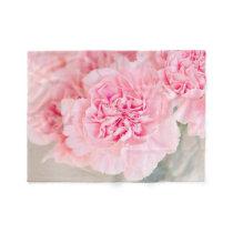 Pink Carnations Fleece Blanket