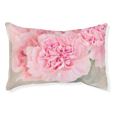 Bride Themed Pink Carnations Pet Bed