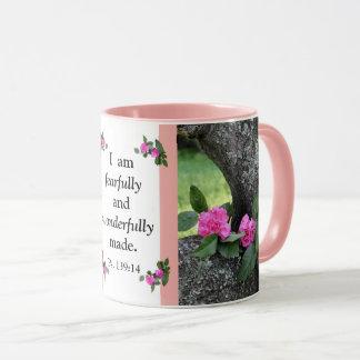 Pink Carnations Psalm Mug