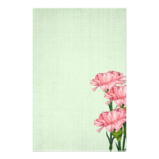 Pink Carnations Stationery