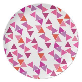 Pink Carnival Melamine Plate