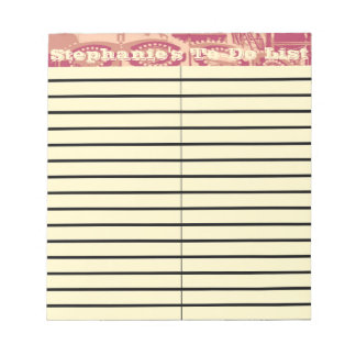 Pink Carnival Small To-Do and Shopping List Pad Memo Notepads