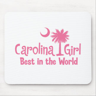 Pink Carolina Girl Best in the World Mouse Pad