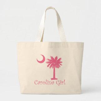Pink Carolina Girl Palmetto Tote Bag