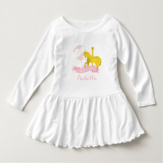 Pink Carousel Horse Birthday Girl Dress