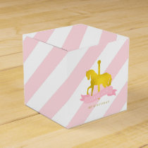 Pink Carousel Horse Birthday Party Favor Box