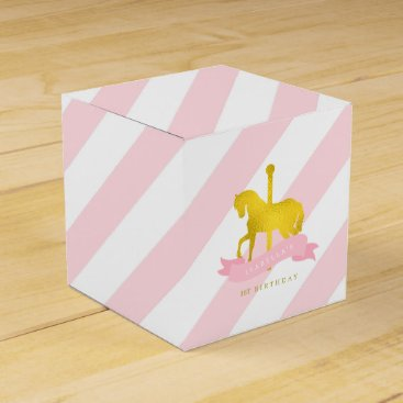 heartlocked Pink Carousel Horse Birthday Party Favor Box