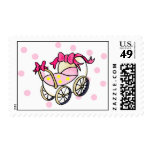 Pink carriage postage stamps