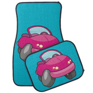 Pink Cartoon Car Car Mat