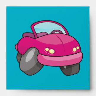 Pink Cartoon Car Envelope
