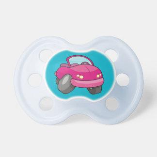 Pink Cartoon Car Pacifier