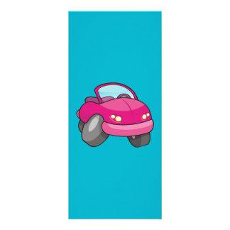 Pink Cartoon Car Rack Card