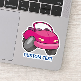 Pink Cartoon Car Sticker