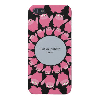 Pink Cartoon Cats Add Your Photo Template iPhone 5 Cases