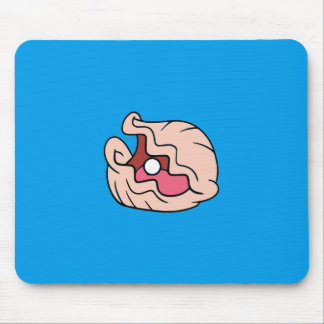 Pink Cartoon Clam with a Pearl in It Mouse Pad