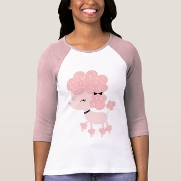 heartlocked Pink Cartoon French Poodle T-Shirt