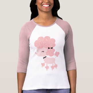 Pink Cartoon French Poodle T Shirts