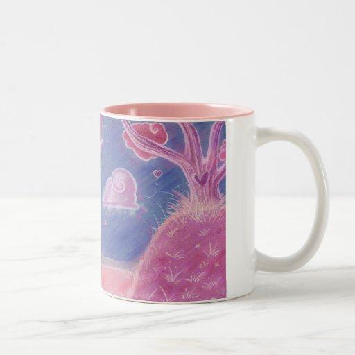 Pink Cartoon Landscape Mug