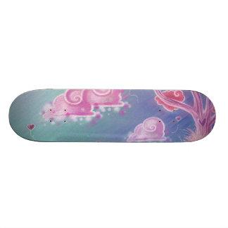 Pink cartoon landscape Skateboard