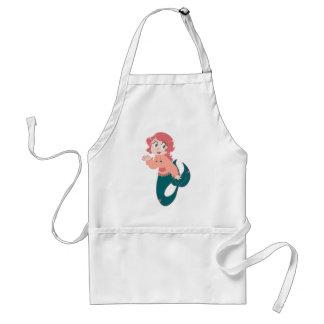 Pink Cartoon Mermaid Adult Apron